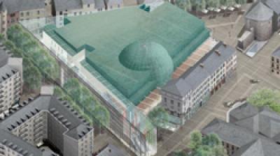 Centre commercial, marché couvert et multiplex 7 salles