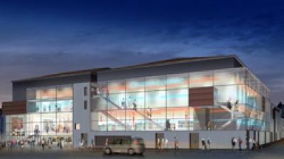 Centre commercial et multiplexe de sept salles